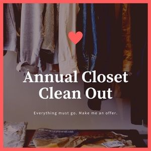Other - CLOSET CLEAN-OUT! (Don't buy this; See my closet)